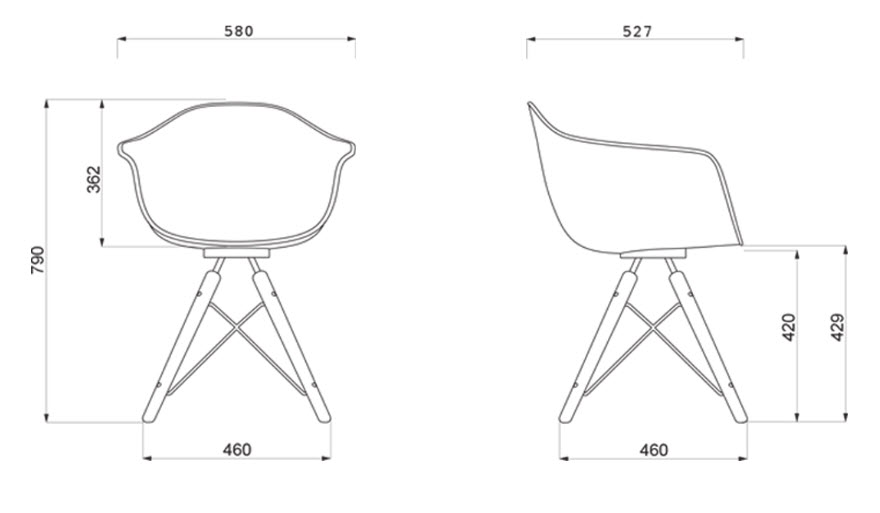 Moda Armchair specifications by WAD