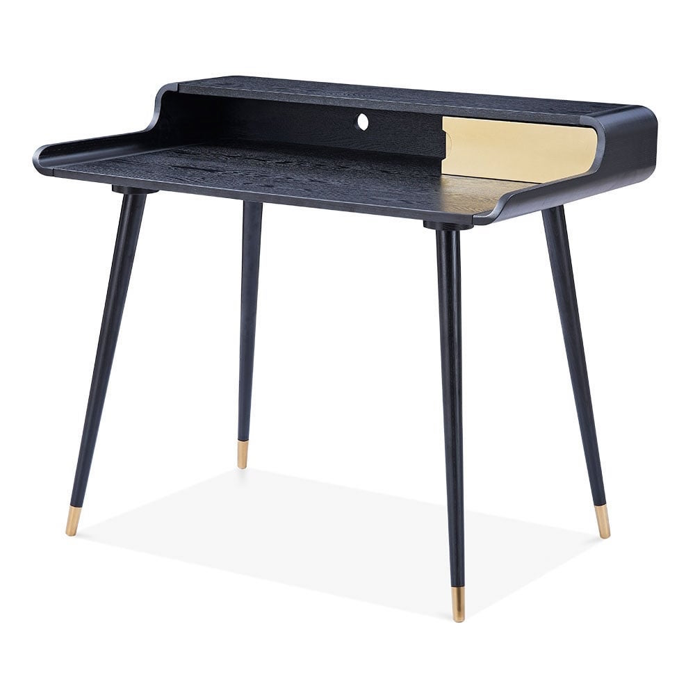 Astrid Home Office Desk Black And Gold